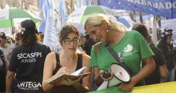 MARIA EUGENIA LUDUEÑA ENTREVISTA EN MARCHA #8M OTRANS